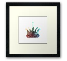 Luxury Redefined Color Crown Framed Print