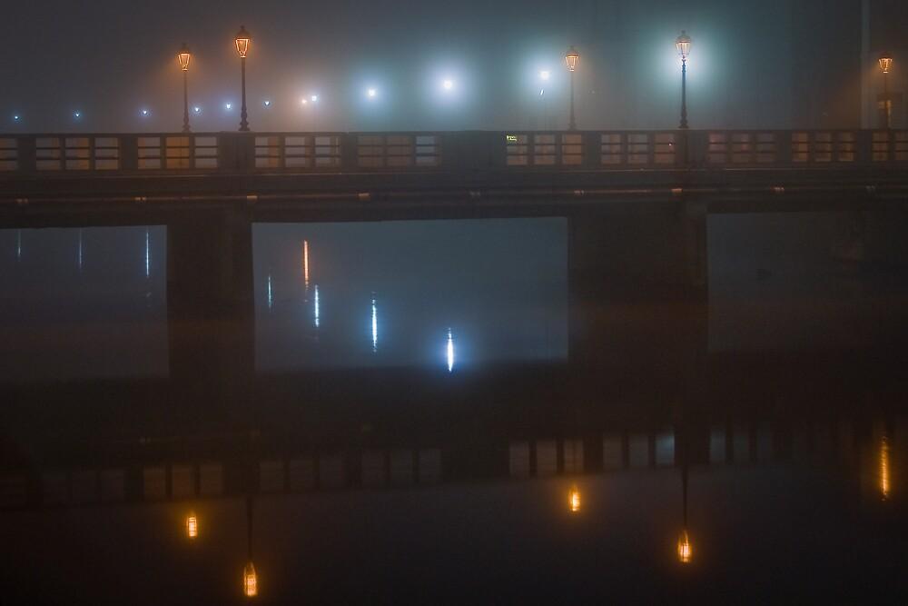 Fog on Misa river by Mauro Taraborelli