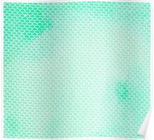 Green Mermaid Leggings Poster
