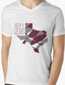 Deep In The Heart Mens V-Neck T-Shirt