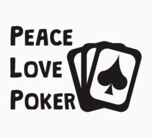 Peace Love Poker Kids Clothes