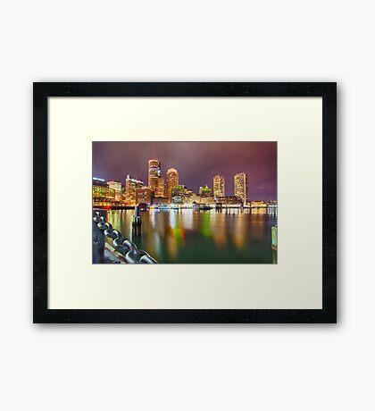 boston massachusetts city skyline Framed Print