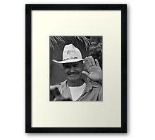 Man waving Framed Print