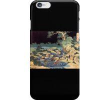 'Fishing With Torches' by Katsushika Hokusai (Reproduction) iPhone Case/Skin