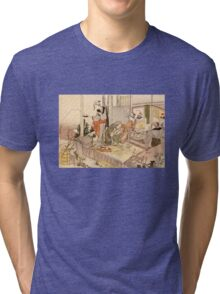 'Close to Mt. Fuji' by Katsushika Hokusai (Reproduction) Tri-blend T-Shirt