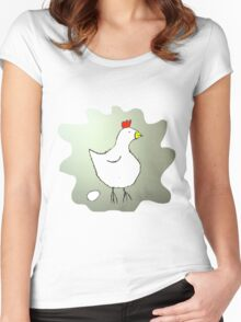 Chicken and Egg Women's Fitted Scoop T-Shirt