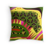 BRIGHTS, alligator abstract, geometric patterns Throw Pillow