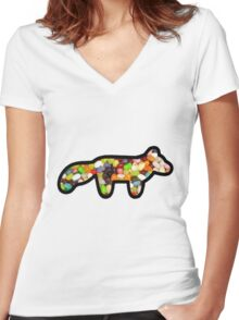 Sweet tooth Women's Fitted V-Neck T-Shirt