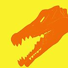 Dino in Orange and Yellow by Kadwell
