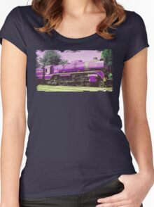 Locomotive Brick Wall  Women's Fitted Scoop T-Shirt