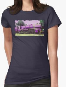 Locomotive Brick Wall  Womens Fitted T-Shirt