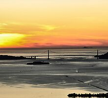 Golden Gate Sunset by BluAlien