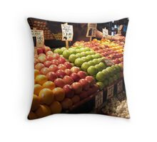 Fruit Stand - Pike Place Market Throw Pillow
