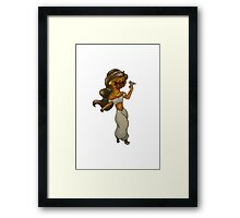 Disneys- Aladdin- Jasmaine x French Bulldog Framed Print