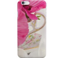 Lavatera Flowers In The Tea Cup iPhone Case/Skin