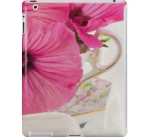 Lavatera Flowers In The Tea Cup iPad Case/Skin