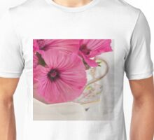 Lavatera Flowers In The Tea Cup Unisex T-Shirt