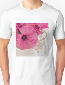 Lavatera Flowers In The Tea Cup T-Shirt