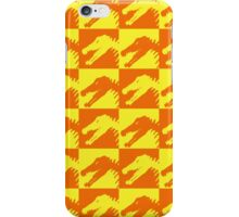Dinos in Orange and Yellow Squared iPhone Case/Skin