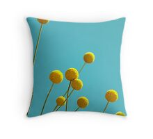 Billy Buttons Throw Pillow