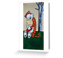 Calvin & Hobbs Original Print Greeting Card