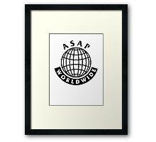 ASAP Mob  Worldwide Framed Print