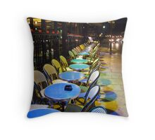 Paris Blue Tables. Throw Pillow