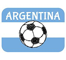 Football Argentina  Photographic Print