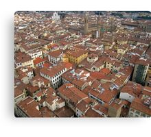 Florence Rooftops. Canvas Print