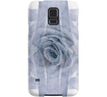 Blue Rose And Ribbon Lace Samsung Galaxy Case/Skin