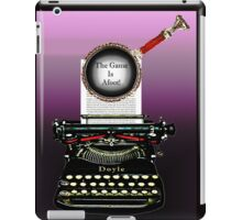 Arthur Conan Doyle knows The Game Is Afoot! iPad Case/Skin