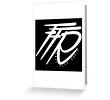 FFR Flow White Greeting Card