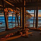 San Clemente Pier Sunset by photosbyflood