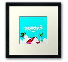 Vapourwave Palm Trees Framed Print