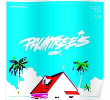 Vapourwave Palm Trees Poster