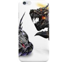 cyber dragon vs grimlock iPhone Case/Skin