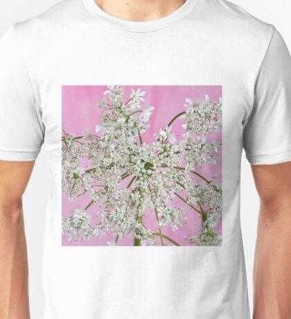 White Wild Cow Parsnip Flower Unisex T-Shirt