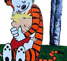Calvin & Hobbes Transparent Print by gaumerdesign