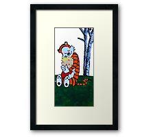 Calvin & Hobbes Transparent Print Framed Print
