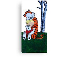 Calvin & Hobbes Transparent Print Canvas Print