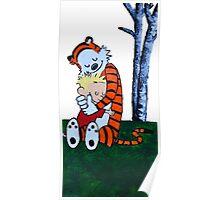 Calvin & Hobbes Transparent Print Poster