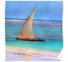Boat on Beach Poster