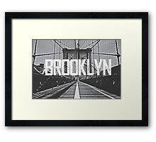 Brooklyn Bridge Typography Print Framed Print