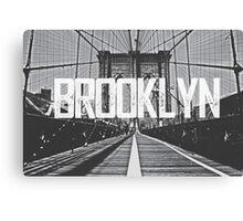 Brooklyn Bridge Typography Print Canvas Print