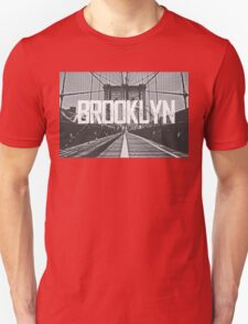 Brooklyn Bridge Typography Print Unisex T-Shirt
