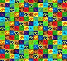 Dino Rainbow by Kadwell