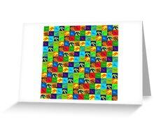 Dino Rainbow Greeting Card
