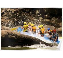 New River Whitewater Raft Spray Poster