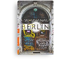 Berlin Grafitti Typography Print Canvas Print