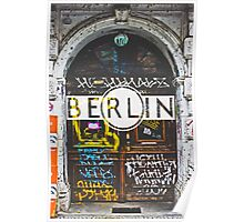 Berlin Grafitti Typography Print Poster